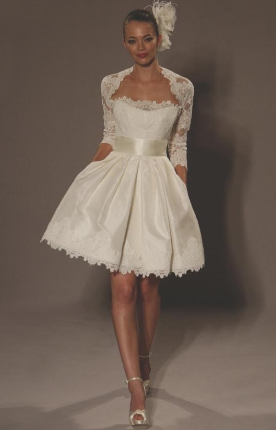 Короткое свадебное платье сшить 8