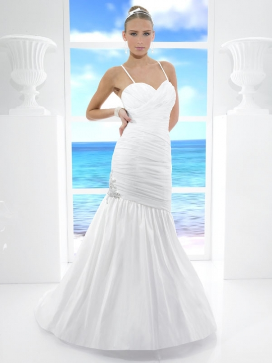 wedding dresses with straps 2011. mermaid wedding dresses with