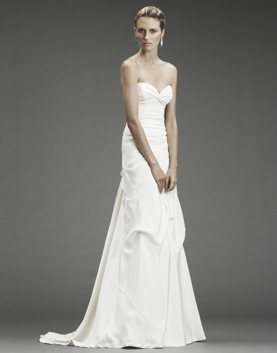 Nicole Miller 39s wedding dress style FP0001 is a white sweetheart neckline