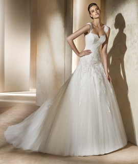 Pronovias Wedding Dress Style Alce :  wedding dress fashion clothing formal dresses designer clothing