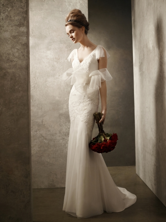 White by Vera Wang: VW351021 wedding dress