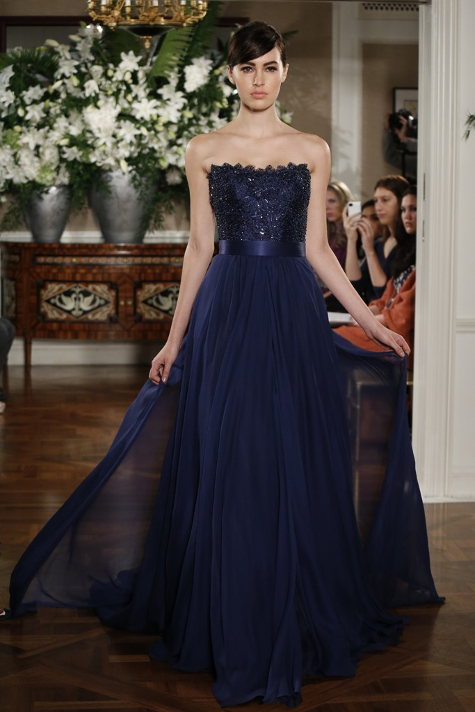 Spring 2013 bridal market bridesmaid dresses by romona for Midnight blue wedding dress