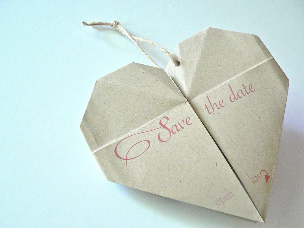 eco friendly wedding finds recycled on Etsy origami save the date