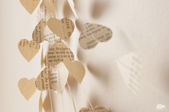 eco friendly wedding finds recycled on Etsy vintage garland