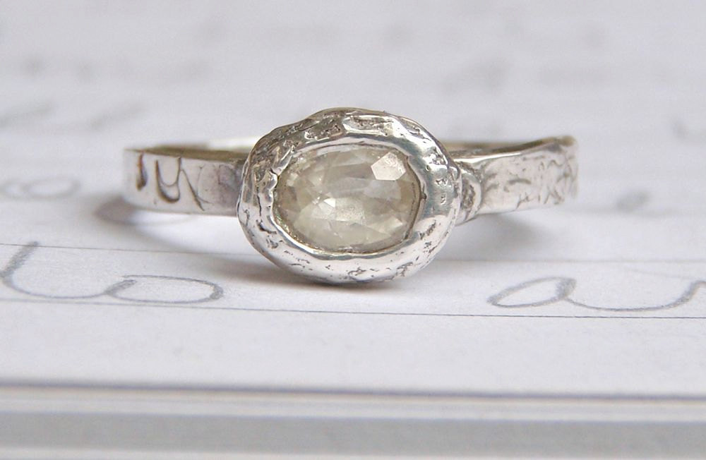 eco friendly wedding finds recycled on Etsy engagement ring