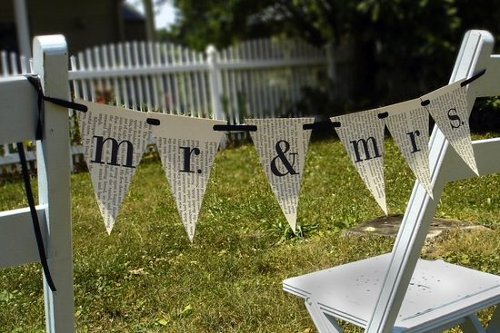 eco friendly wedding finds recycled on Etsy mr mrs banner