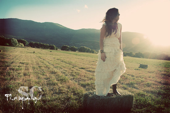eco friendly wedding finds recycled on Etsy bridal gown
