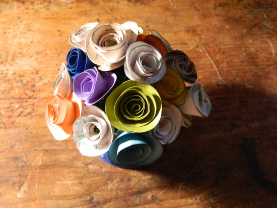 eco friendly wedding finds recycled on Etsy alternative centerpiece