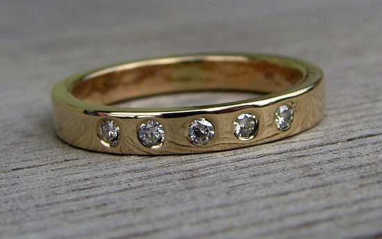 eco friendly wedding finds recycled on Etsy brides wedding band