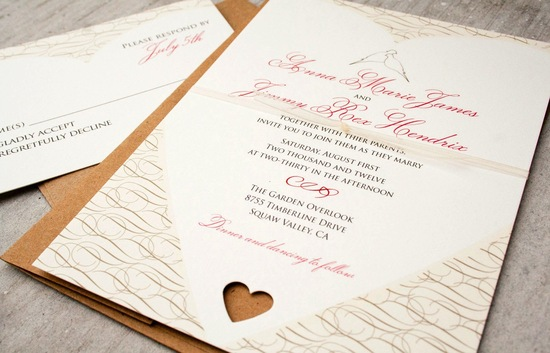 eco friendly wedding finds recycled on Etsy valentines day invitations