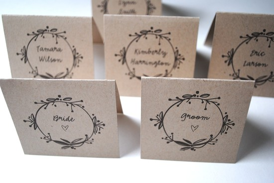 eco friendly wedding finds recycled on Etsy escort cards