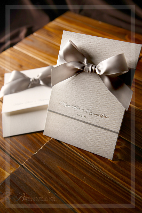 photo of B Wedding Invitations
