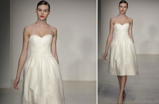 little white wedding dresses for 2013 Amsale 3