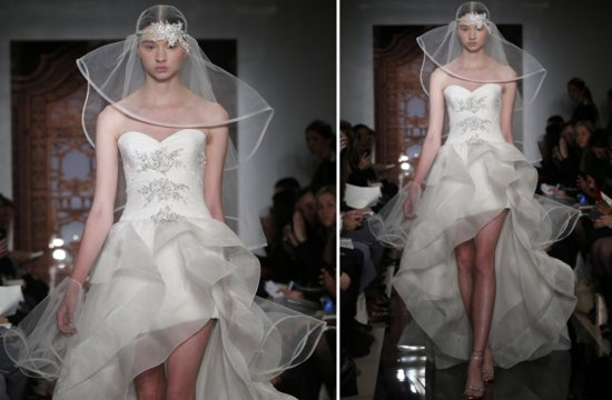 little white wedding dresses for 2013 Reem Acra bridal 2