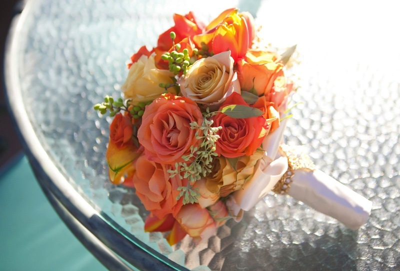 fall wedding flowers bouquets and centerpieces orange roses