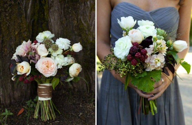 edible wedding flower bouquets boutonnieres berries full