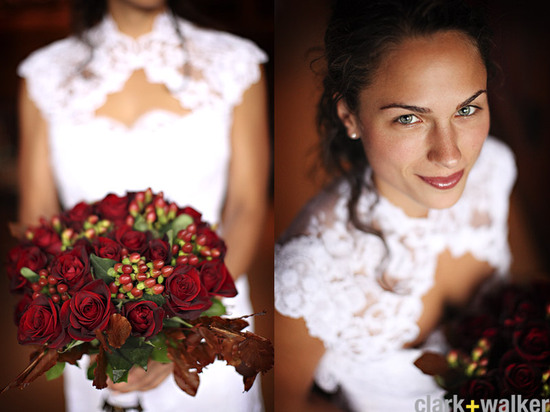fall wedding flowers bouquets and centerpieces deep red roses