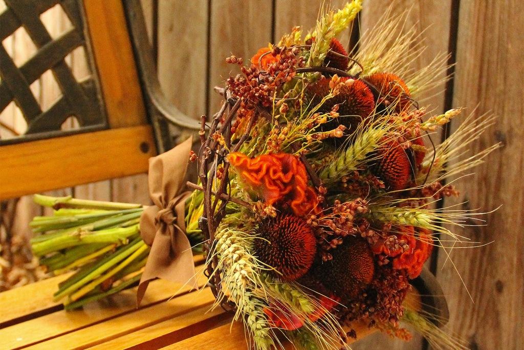 Осенний букет своими руками для детского сада  523