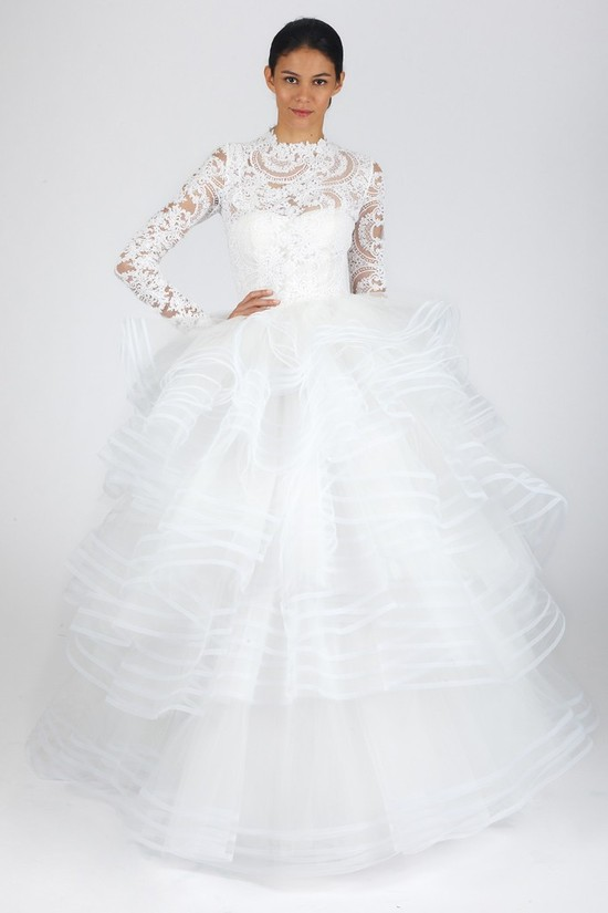 fall 2013 wedding dress trends bridal fashion Oscar de la Renta