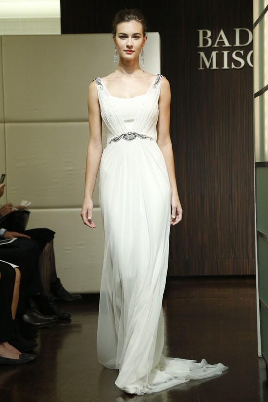 fall 2013 wedding dress trends bridal style Badgley Mischka 1