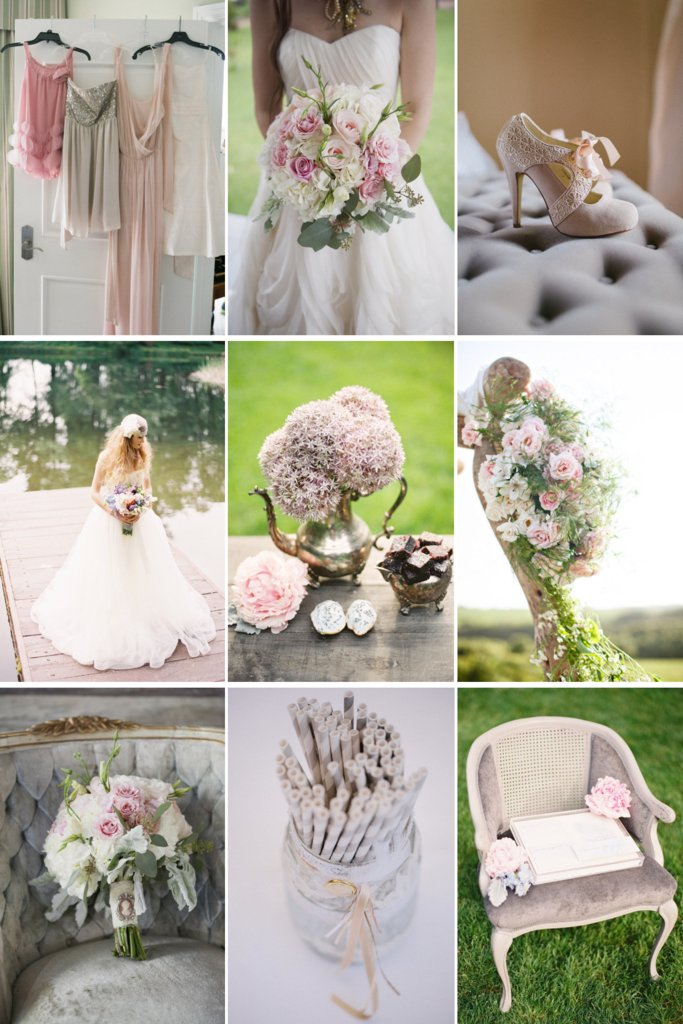 photo of Romantic Wedding Color Palette: Soft & Sweet