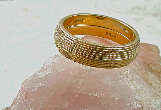 unexpectedly awesome wedding bands for brides and grooms Etsy handmade 1