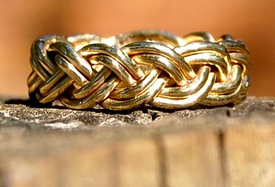 unexpectedly awesome wedding bands for brides and grooms Etsy handmade gold braided 2