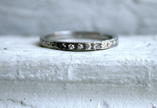 unexpectedly awesome wedding bands for brides and grooms Etsy handmade vintage etched