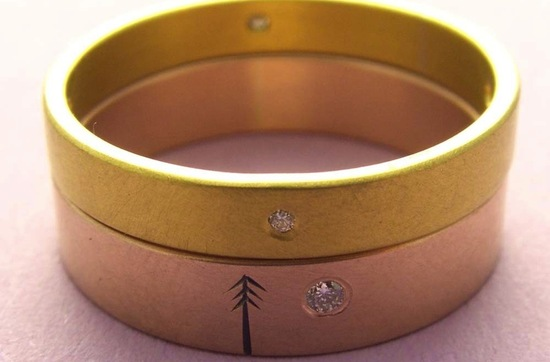 unexpectedly awesome wedding bands for brides and grooms Etsy handmade rose yellow gold