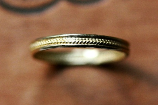 unexpectedly awesome wedding bands for brides and grooms Etsy handmade gold delicate braid design