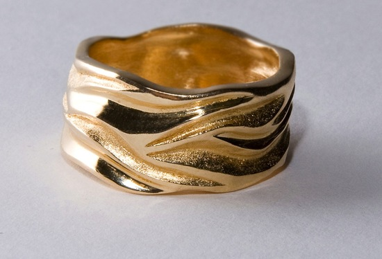 unexpectedly awesome wedding bands for brides and grooms Etsy handmade yellow gold unisex