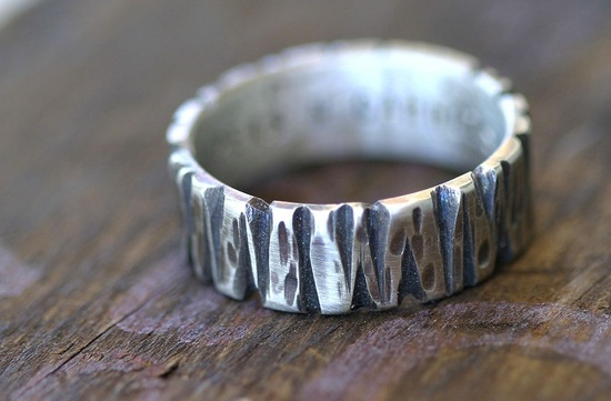 unique wedding bands on Etsy 5