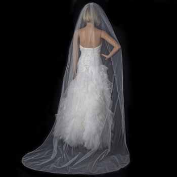 Bridal Wedding Single Layer Cathedral Length Veil 139