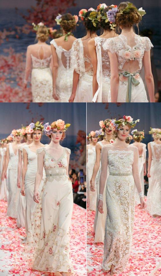 2013 Bridal Runway Claire Pettibone Wedding Dresses Finale