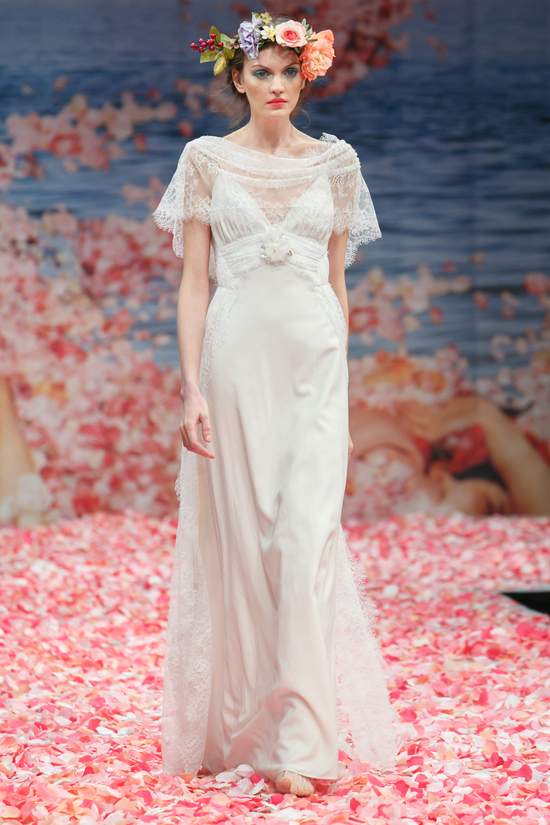 photo of 2013 wedding dress by Claire Pettibone An Earthly Paradise bridal collection Sonnet