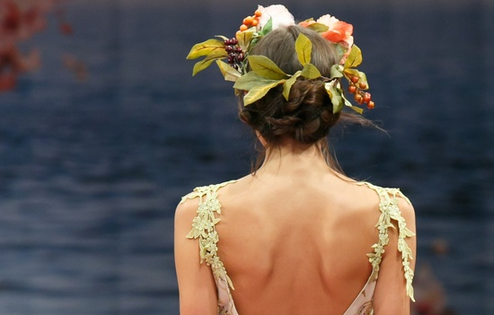 bridal beauty inspiration from 2013 wedding dress catwalks Claire Pettibone 3