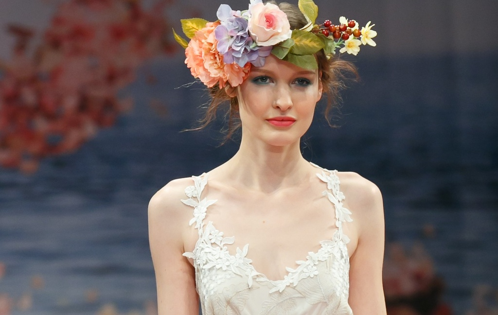 bridal beauty inspiration from 2013 wedding dress catwalks Claire Pettibone 1