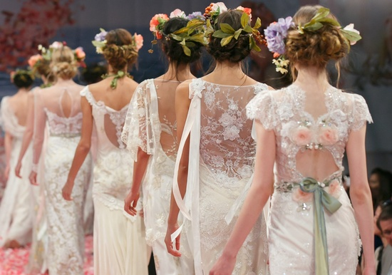 bridal runway details from Claire Pettibone 2013 bridal 2