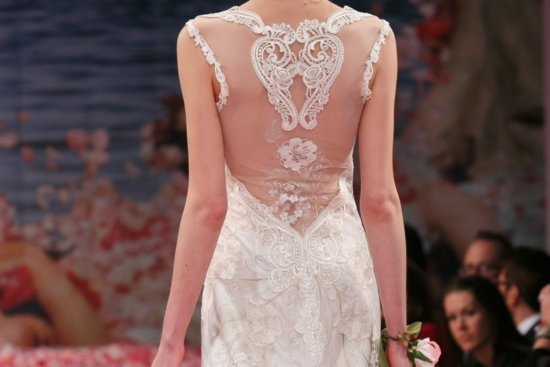 romantic brides runway inspiration Claire Pettibone statement backs 1
