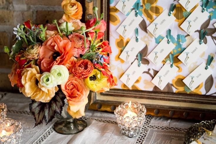 Romantic wedding flowers poppy orange centerpiece with poppies mightylinksfo