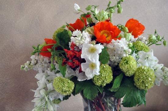romantic wedding flowers Poppy bridal bouquet reception centerpiece 1