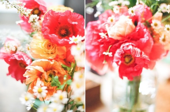romantic wedding flowers Poppies 2