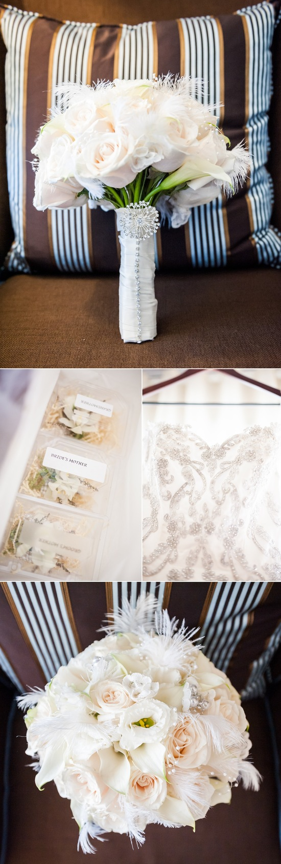 Vintage inspired wedding in los angeles all ivory bridal for Vintage wedding dress los angeles