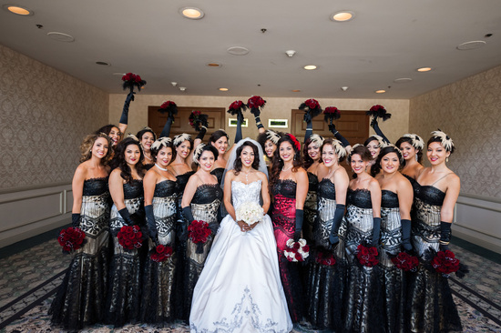 epic wedding in Los Angeles California weddings retro bridesmaid
