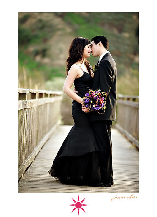 photo of married in black