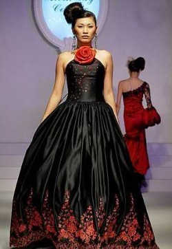 Black and Red Wedding Dresses