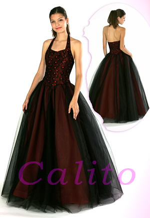 photo of feabf535090c78a8 red and black wedding dresses