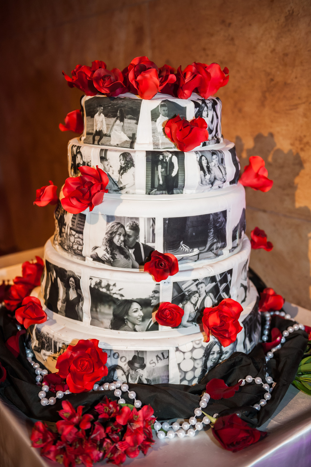 Epic-wedding-in-los-angeles-california-weddings-black-white-red-cake.full