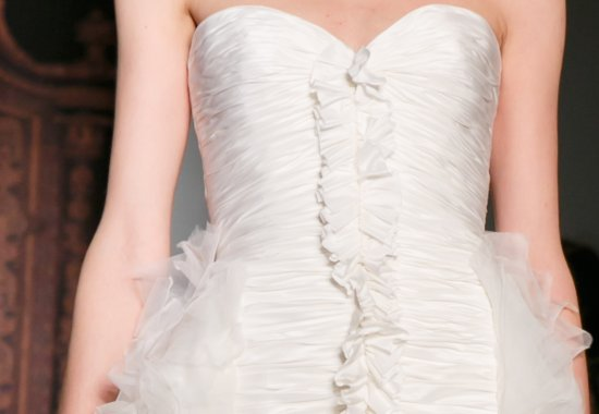 Bridal Runway Inspiration Reem Acra Fall 2013 LWD ruched