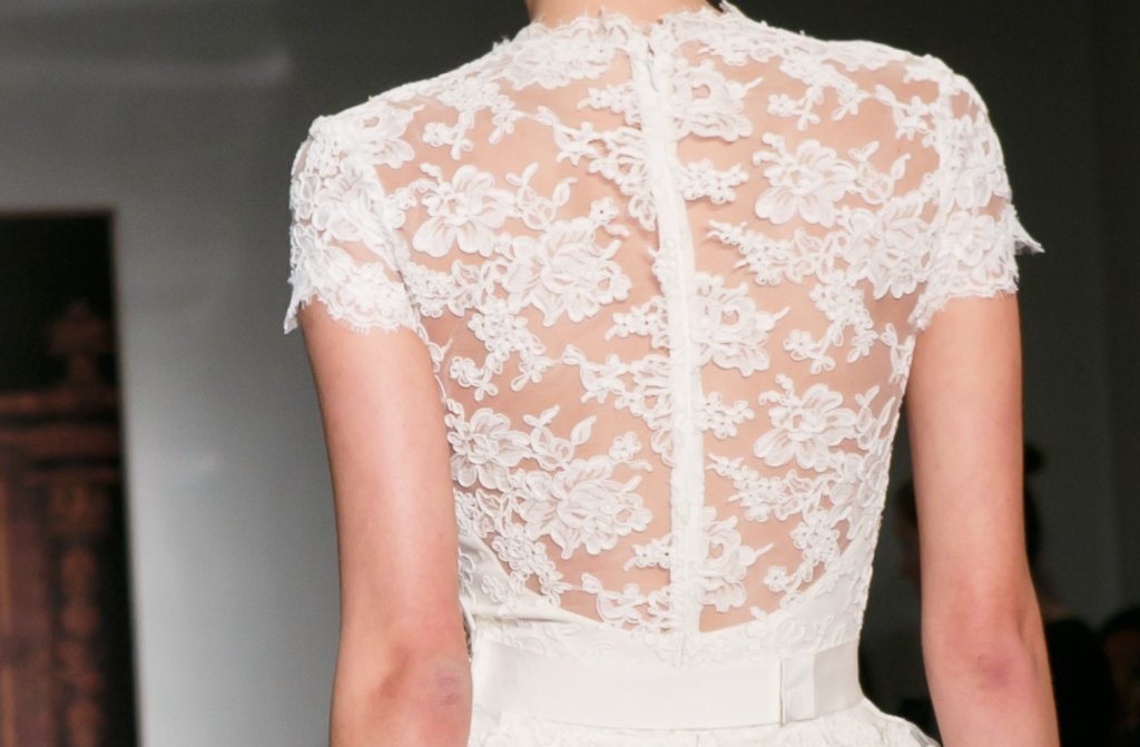 Bridal Runway Inspiration Fall 2013 Reem Acra wedding dresses lace statement back